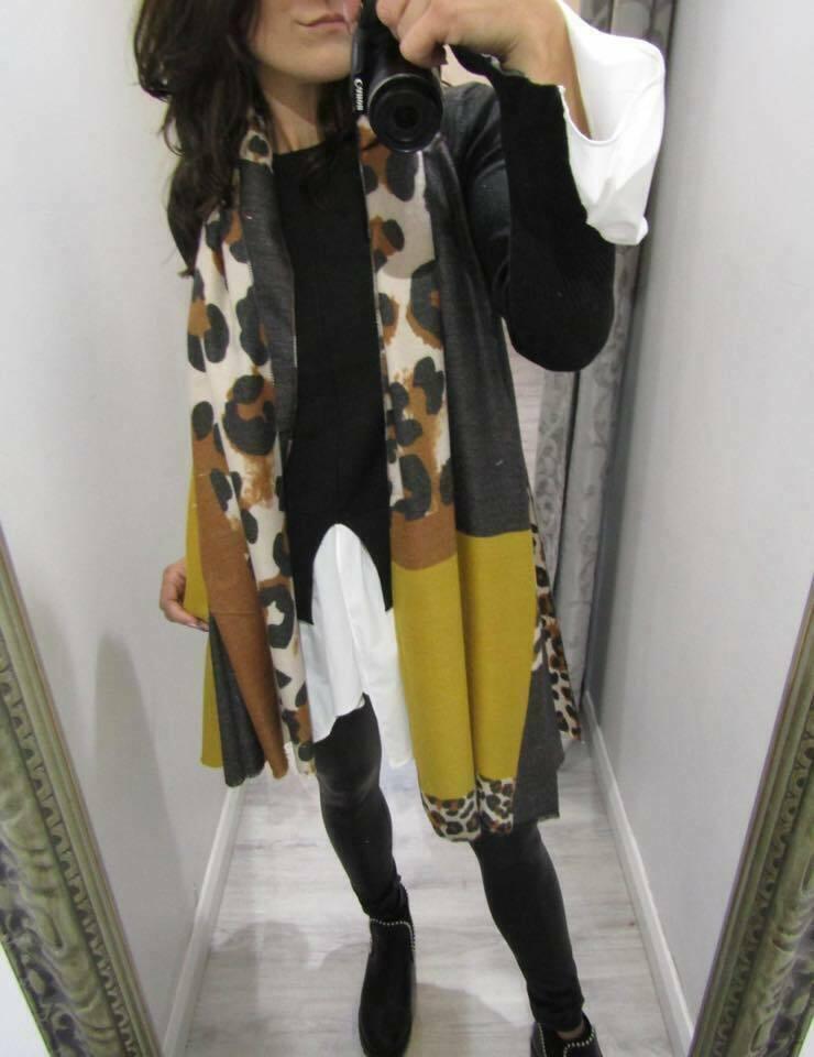Ladies Leopard Print Scarf Shawl Pashmina Stole Blanket Wrap Animal Scarves