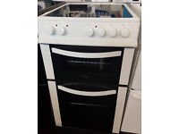 x735 white logik 50cm ceramic hob electric cooker comes with warranty can be delivered or collected