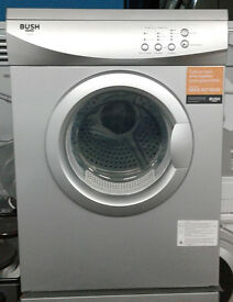 H822 silver bush 6kg vented sensor dryer comes with warranty can be delivered or collected