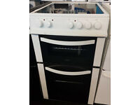 g735 white logik 50cm ceramic hob electric cooker comes with warranty can be delivered or collected