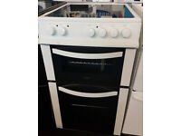 a735 white logik 50cm ceramic hob electric cooker comes with warranty can be delivered or collected