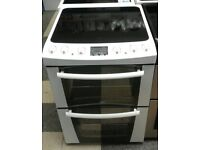 b626 white zanussi 60cm double oven ceramic electric cooker with warranty can be delivered / collect