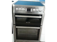 a040 silver flavel 60cm ceramic electric cooker comes with warranty can be delivered or collectedd