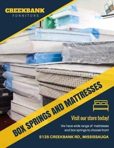 MATTRESS WAREHOUSE!! ALL MUST GO!!! PRICES FROM $50-$399 BOXES $50-100