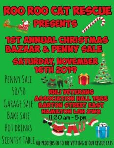 Roo Roo Cat Rescue Christmas Bazaar and Penny Sale