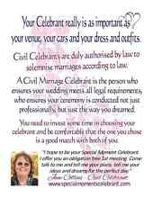 Marriage Celebrant NW Tas - Statewide Elizabeth Town Meander Valley Preview