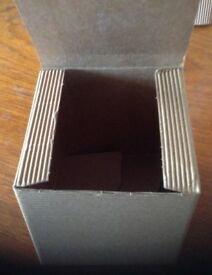 Small one piece corrugated gift box
