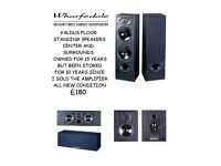 WHARFFEDALE FLOOR STANDING SPEAKERS SURROUNDS AND CENTER