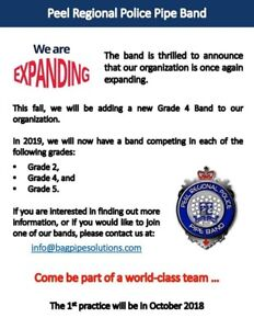 Bagpipers, drummers and learners wanted! * bagpipes *