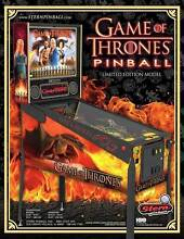 Game of Thrones Limited Edition Pinball Hire-$300 Ascot Park Marion Area Preview