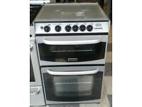 b616 silver cannon 55cm double oven gas cooker with warranty can be delivered or collected