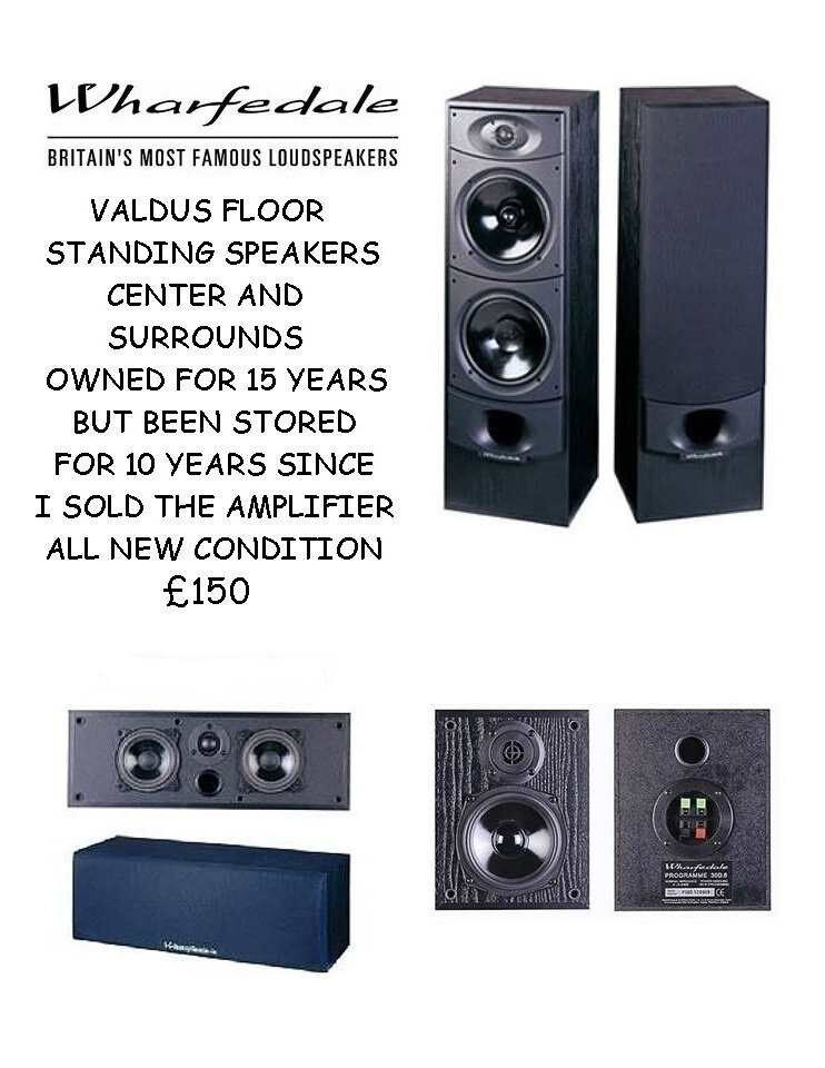 WHARFEDALE FLOOR STANDING SPEAKERS SURROUNDS CENTER