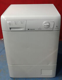 c462 white hotpoint 8kg condenser dryer comes with warranty can be delivered or collected