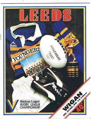 Leeds v Wigan 1984/5