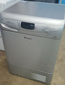 l315 silver hotpoint 7kg condenser dryer comes with warranty can be delivered or collected