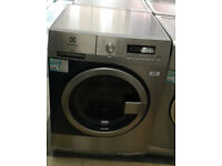 V287 stainless steel & blue electrolux 8kg 1400spin A+++ rated semi commercial washing machine