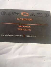 24/7 Recovery services no job to small