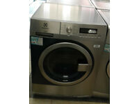 W287 stainless steel & blue electrolux 8kg 1400spin A+++ rated semi commercial washing machine