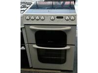 a201 white creda 60cm double oven ceramic hob electric cooker comes with warranty can be delivered