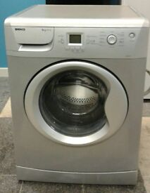 *366 silver beko 8kg 1200 spin washing machine comes with warranty can be delivered or collected