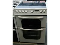 j201 white creda 60cm double oven electric cooker comes with warranty can be delivered or collected