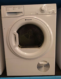 o351 white hotpoint 7kg condenser dryer comes with warranty can be delivered or collected
