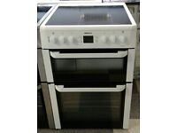 c428 white beko 60cm electric cooker comes with warranty can be delivered or collected