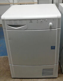B567 white indesit 7kg condenser dryer comes with warranty can be delivered or collected