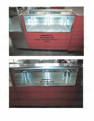 Glass Jewelry Showcase Display Cash Wrap Cases Used Store Fixtures