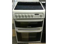 c671 white cannon 60cm double oven ceramic hob electric cooker come with warranty can be delivered