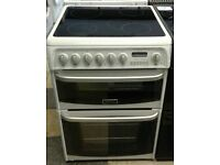 671 white cannon 60cm double oven ceramic electric cooker with warranty can be delivered or collect