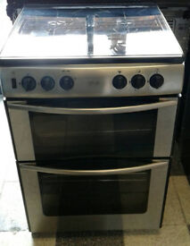 a686 stainless steel belling 60cm double oven gas cooker comes with warranty can be delivered