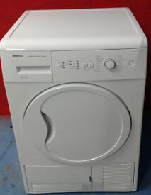 j459 white beko 8kg B rated condenser dryer comes with warranty can be delivered or collected