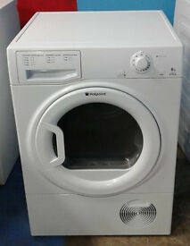 I565 white hotpoint 8kg condenser dryer comes with warranty can be delivered or collected