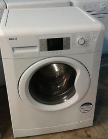 I497 white beko 8kg 1200spin A+ rated washing machine comes with warranty can be delivered