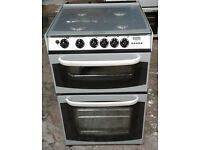 c440 silver cannon 55cm double oven gas cooker comes with warranty can be delivered or collected