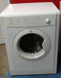 n063 white indesit 7kg vented dryer comes with warranty can be delivered or collected
