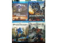 Transformers 1 - 4 Bluray Movie Collection inc 3D. Great Condition.