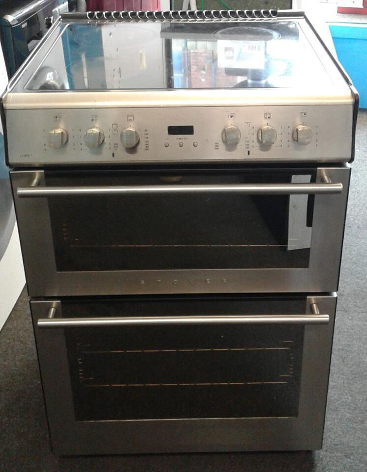 J672 stainless steel stoves 60cm double oven ceramic electric cooker comes with warranty