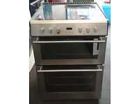 u672 stainless steel stoves 60cm double oven ceramic hob electric cooker comes with warranty