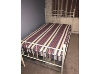 Small double, 4ft bed frame and mattress