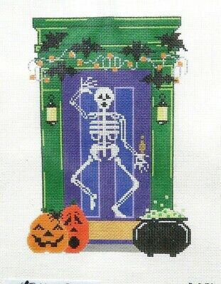 The Meredith Collection Halloween Holiday Door Handpainted Needlepoint Canvas](Halloween Meredith)