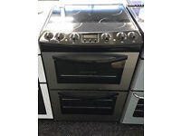 *80 stainless steel tricity bendix 60cm double oven ceramic electric cooker comes with warranty