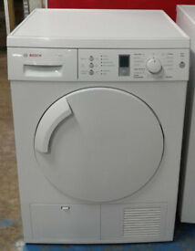 E527 white bosch 8kg condenser dryer comes with warranty can be delivered or collected
