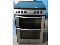 Z590 stainless steel belling 60cm double oven dual fuel cooker comes with warranty can be delivered