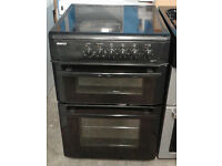 D315 black beko 60cm double oven ceramic hob electric cooker comes with warranty can be delivered