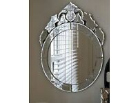Beautiful large venetian wall hung mirror - perfect condition