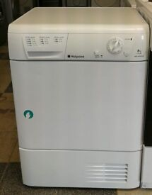 E366 white hotpoint 8kg condenser dryer with warranty can be delivered or collected