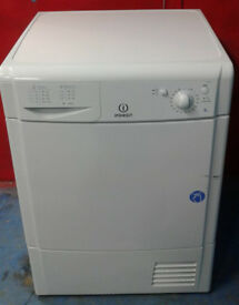 n374 white indesit 8kg condenser dryer comes with warranty can be delivered or collected