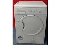 c311 white beko 8kg B rated condenser dryer comes with warranty can be delivered or collected
